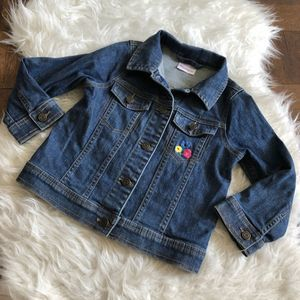 Hanna Andersson Girls 110 5 Jean Jacket Embroidery